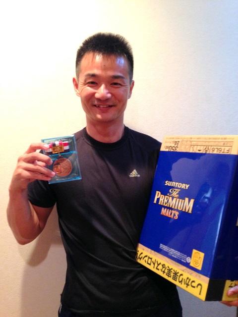 サントリーチャレンジ第19回JAWA愛媛県アームレスリング選手権大会3位入賞