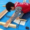 愛南町南レク御荘公園コミュニティ広場の第29回親子手作り木工広場へ娘と行ってきました