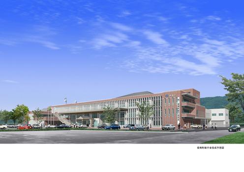 愛南町の新庁舎が完成し、見学会が開催されるようです