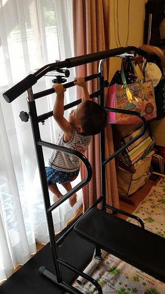 2歳の長男もトレーニングできます