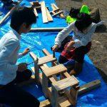 愛南町南レク御荘公園の楽しいイベントの親子手作り木工広場に家族で参加してきました